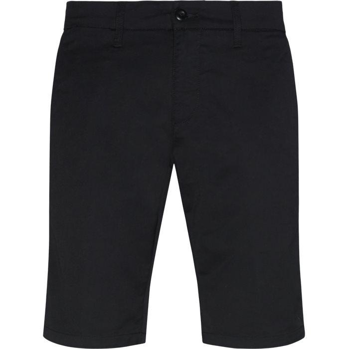 Shorts - Slim - Svart